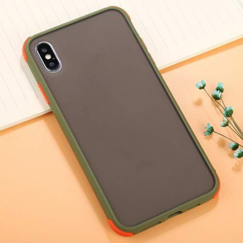 NANSHAN PHONETABLETCASE+ / for 苹果手机 XS & X TPU + PC Cobertura Completa Anti-Fall Protective Funda Protección de la Cubierta de la Cubierta a Prueba (Color : Green)