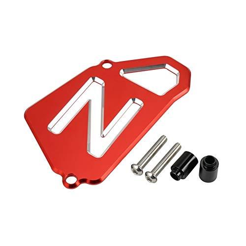 ZRNG Ritzelabdeckung Fall Saver Kettenschutz gepasst for Yamaha Raptor 700 700R YFM700R YFM700 CNC Alu-Kettenschutz Zubehör (Color : Red)
