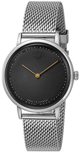 [ドゥッファ] 腕時計 GROPIUS2hands ブラック文字盤 DF-9020-11 メンズ 正規輸入品 シルバー