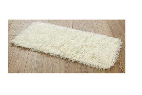 Rugs & Stuff Flokati Griechischer Teppich, zottelig, 70 x 120 cm, 1500 g/m², elfenbeinfarben