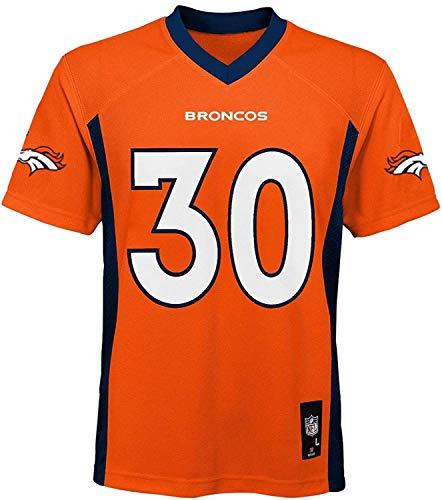 Outerstuff Phillip Lindsay Denver Broncos #30 Orange Kids 4-7 Mid Tier Home Jersey (4)