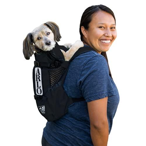 K9 Sport Sack | Dog Carrier Adjustable Backpack (X-Small, Air - Jet Black)