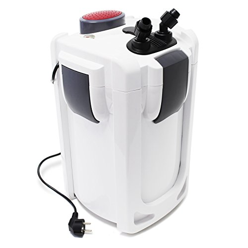 SunSun HW-702B Aquariumaußenfilter 1000 L/h 24 W mit 9 W UVC und 3 Stufen Filter Aquarium