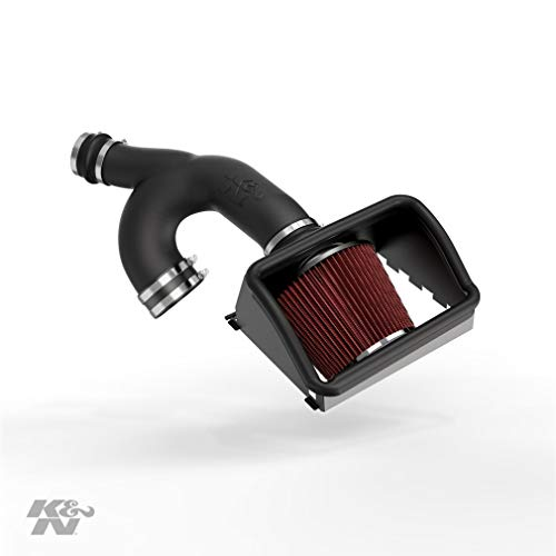 K&N Cold Air Intake Kit: High Performance, Guaranteed to Increase Horsepower: 2015-2016 Ford F150 Turbo Ecoboost, 3.5L V6,63-2592