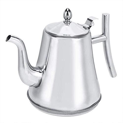 Bouilloire à café, théière épaissie portative en acier inoxydable avec filtre, 1.2L / 1.8L / 2.0L Gooseneck Spout Kettle Home Kitchen Tea Making Tools-1L