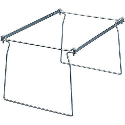 Steel Hanging File Folder Frame, Legal Size, Gray, Adjustable Length 23 inch to 27 inch, 2 per Pack, Product Dimensions: 1.63 x 10.25 x 1.63 inches