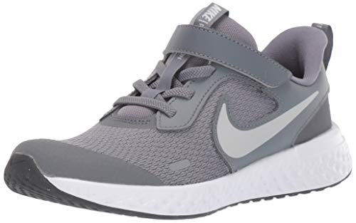 Nike Unisex-Child Revolution 5 (PSV) Running Shoe, Cool Grey/Pure Platinum-Dark Grey, 33 EU