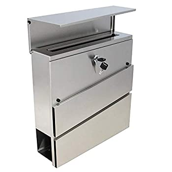 MPB932 The New Style Vertical Lockable Mailboxes Brushed Stainless Steel with Newspaper Holder Modern Urban Style - Quality is TOP Anti-Rust Sturdy AS Reviews from Client