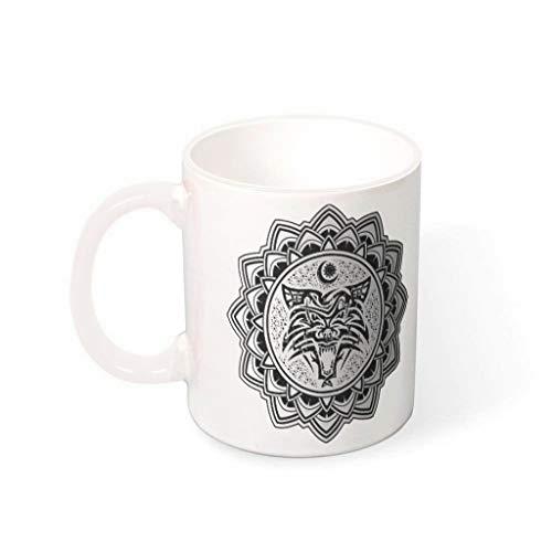 XJJ88 Viking Tattoo Drinks Koffie Mok met Handvat Keramische Personaliseer Mokken - Klasgenoot, Geschikt voor Familie gebruik (11 OZ.)