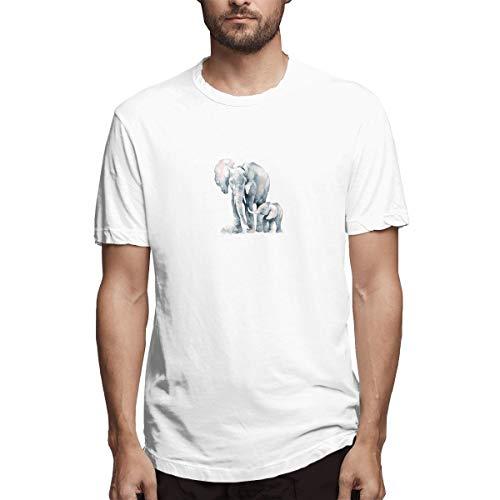 xinfub Camisa Elefantes y Elefantes bebé Camisa Casual de algodón para Hombre