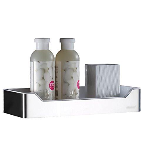 Bathroom racks LI Jing Shop- Acier Inoxydable Salle de Douche Salle de Bain Etagères Salle de Bain Pendaison Mur Salle de Bain Mur Jiaojia Panier Monocouche