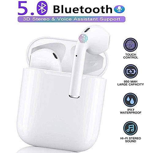 Auricolare Bluetooth Senza Fili, Cuffie Bluetooth 5.0,Cuffie Wireless Sport with IPX7 Impermeabile,Mini Cuffieriduzione del rumore stereo 3D, per Apple Airpods Pro/Android/iPhone/Huawei/Samsung