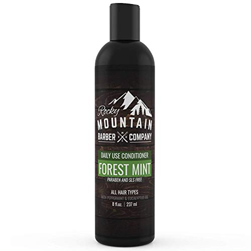 Men's Conditioner - Tea Tree Oil, Peppermint & Eucalyptus for All Hair Types – Hydrates Dry Itchy Scalp – Paraben, SLS & DEA Free - 8oz - by Rocky Mountain Barber Company
