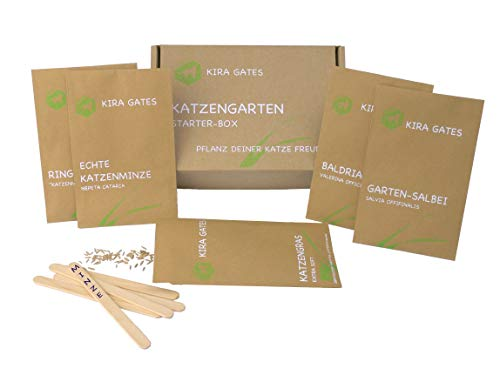 Kira Gates Cat Garden Starter Box - Cat Herbs in a Gift Set