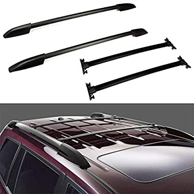 ECCPP Roof Rack Crossbars w/Side Rails fit for Toyota Highlander 2008-2013 Rooftop Luggage Canoe Kayak Carrier Rack - 4Pcs Cargo Carrier System