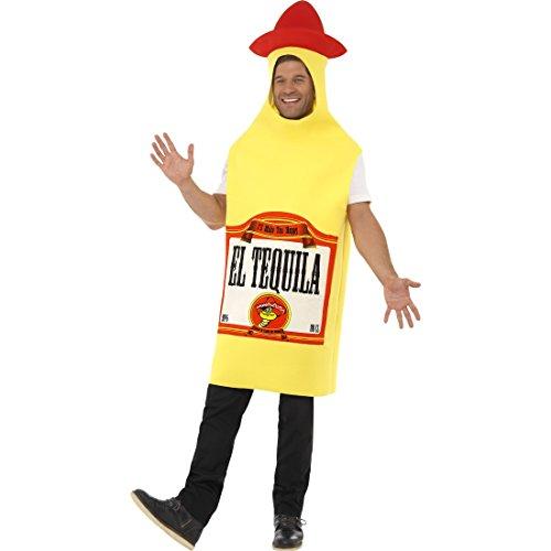 NET TOYS Mexiko Flaschenkostüm Tequila Kostüm Schnaps Flasche Jumpsuit Mexico Party Ganzkörperkostüm Junggesellenabschied Herrenkostüm Flaschen Faschingskostüm Karnevalskostüme Herren lustig
