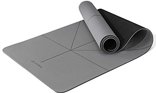 yoga mat (Grau / Schwarz, 6mm)