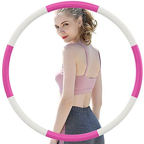 DUTISON Hula Reifen Hoop Erwachsene, Edelstahl-Innenkernrohr und Dicker Premium Schaumstoff, Abnehmbarer Fitness Hula Reifen Hoop Für Gewichtsabnahme/Bauchformung (8 Segment, 1,2 kg)