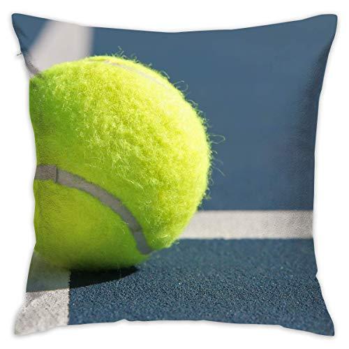 artyly Federe Decorative Personalizzate Palla da Tennis Federe per guanciali Federe per Cuscini 45x45 cm (18x18 Pollici) per Divano Letto Carrozzeria