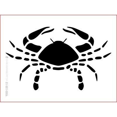 graphits Schablone Sternzeichen Krebs, 01-901-0004, Tierkreiszeichen, für Wand-, Textil-, Fenster-, Keilrahmengestaltung und Deko, Größe anpassbar