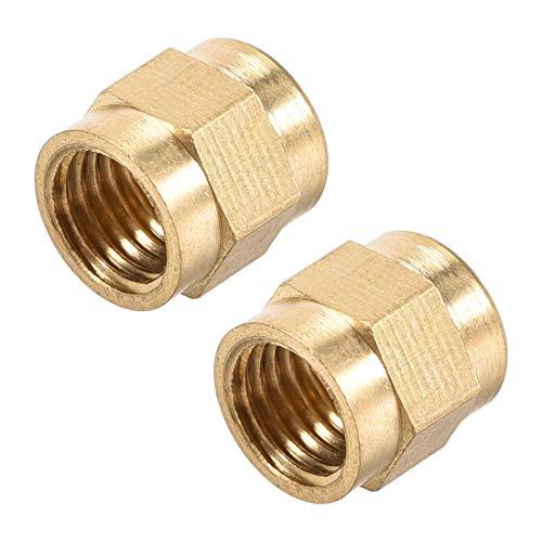 uxcell Brass Tubing Nut Tube Fitting Compression Insert Hydraulic Nuts M8x6mm 2pcs