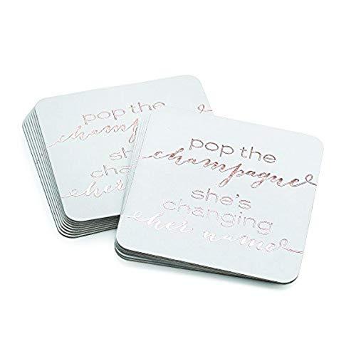 Hortense B Hewitt BacheloretteShower Coasters 4-Inch Pop the Champagne