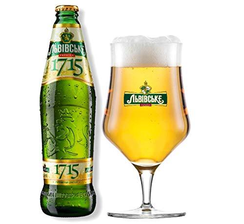 8 Flaschen Lwiwske Levivske 1715 Lager Bier, Originalimport aus der Ukraine 0,5l