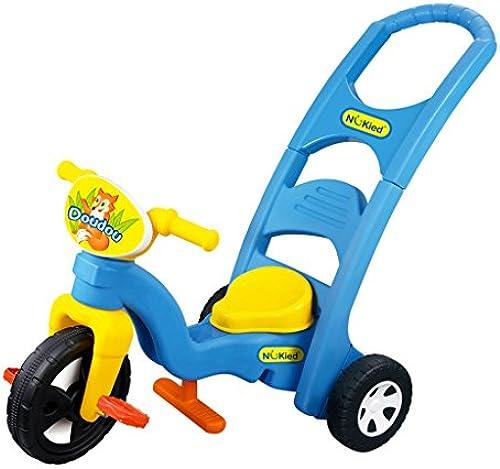 Fenfen Baby Dreirad Baby Fahrrad Triathlon 1-6 Jahre alt Pushing Fahrrad ABS Schaukelstuhl, blau rot, 75  46  54 cm (Farbe   Blau)