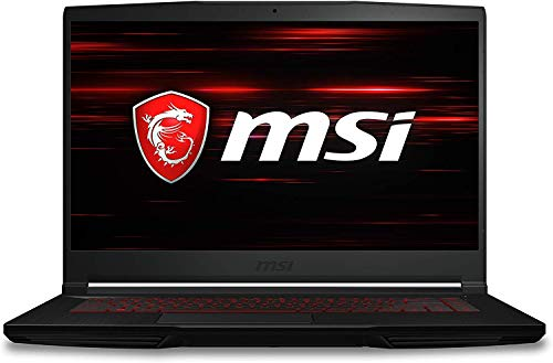 MSI Thin GF63 (GF63 Thin 9RCX-818) Gaming Laptop, 15.6' FHD Display, Intel Core i7-9750H Upto 4.5GHz, 8GB RAM, 256GB NVMe SSD, NVIDIA GeForce GTX 1050 Ti, HDMI, Wi-Fi, Bluetooth, Windows 10 Home