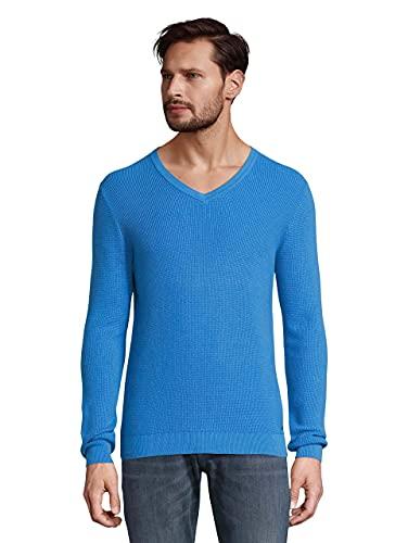 TOM TAILOR 1023150 Cotton-Silk Maglione, 26178-Bright Ibiza Blue, XXXL Uomo