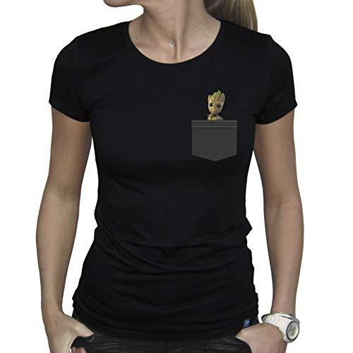 ABYstyle - Marvel - Pocket Groot Tshirt Frau schwarz (S)