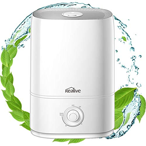 Cool Mist Humidifier, 50 Hrs Run Time for Bedroom, 5L/1.3 Gal Essential Oils Diffuser Humidifiers for Bedroom, Baby, Auto Shut-off, Easy to Clean