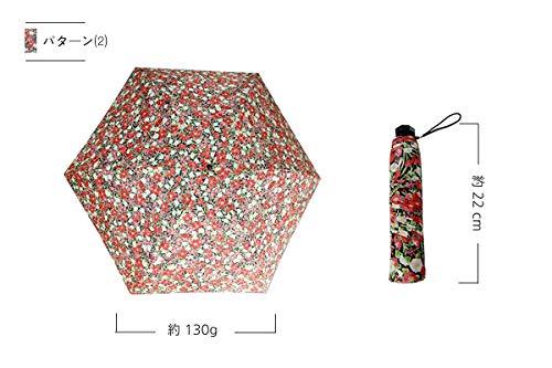 【超軽量日傘日本製】約130g紫外線防止加工UVカット折りたたみ傘(パターン2)