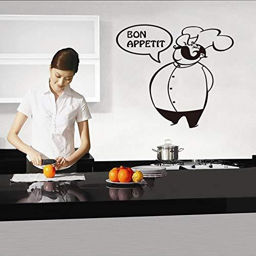 Preisvergleich Produktbild Njuxcnhg Interessante Vinylwandaufkleber Bitte Essen Musteraufkleber Wandbild Küche Wohnzimmer Heimtextilien Hausdekoration 55X58cm
