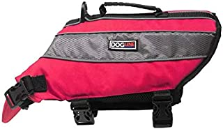 Dogline Dog Life Jacket – Dog Life Vest for Swimming and Boating in Hi-Viz Colors with Reflective Strips Mesh Underbelly f...
