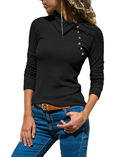 Shirt met lange mouwen dames mode tops casual shirt gebreid elegant herfst Vacation geschenken winter lange mouwen slim fit effen kleuren trui top vrouwen