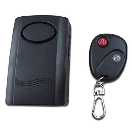 Wolfberrymetal Alarma de Motocicleta, Alarma para Motocicleta, Scooter, Alarma antirrobo, Sistema de Seguridad, Control Remoto inalámbrico Universal, 120Db (Negro)