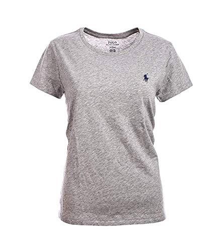 Polo Ralph Lauren Herren T-Shirt, klassisch, Pony, Rundhalsausschnitt, Baumwolle Gr. XS, grau