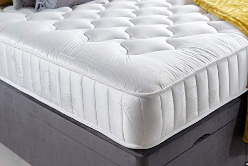 Revive Direct Premium Quality Quilted Open Coil Spring Mattress with Breathable Border - 5ft King Size -150cm x 200cm