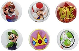 Official Nintendo Super Mario Bros. Lenticular Pin Badges Set of 6