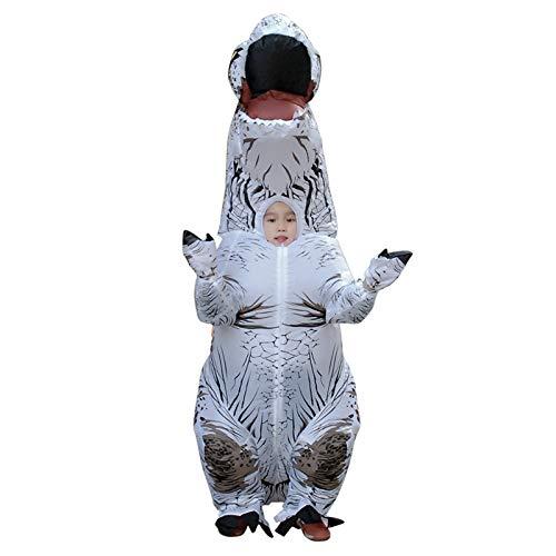 Sxgyubt - Disfraz inflable de dinosaurio T REX para niños, Blanco, tamaño único