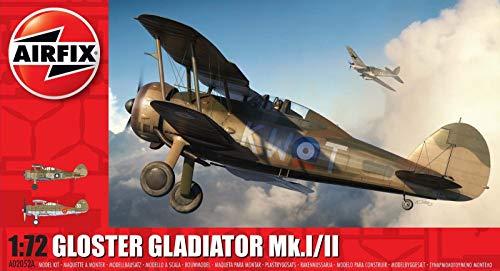 Airfix A02052A 1/72 Gloster Gladiator Mk.I/Mk.II Modellbausatz, Multi, 1: 72 Scale