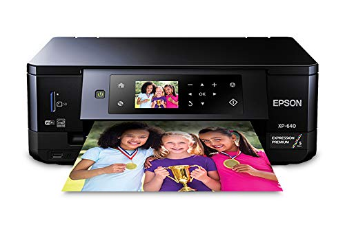 Epson Expression Premium XP-640 Wireless Color Photo Printer with Scanner and Copier (Renewed)