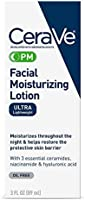 CeraVe PM Facial Moisturizing Lotion | Night Cream with Hyaluronic Acid and Niacinamide | Ultra-Lightweight, Oil-Free...