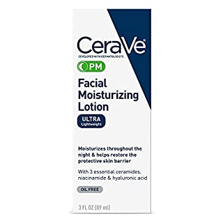 CeraVe PM Facial Moisturizing Lotion | Night Cream with Hyaluronic Acid and Niacinamide | Ultra-Lightweight, Oil-Free Moisturizer for Face | 3 Ounce (B00365DABC) | Amazon price tracker / tracking, Amazon price history charts, Amazon price watches, Amazon price drop alerts
