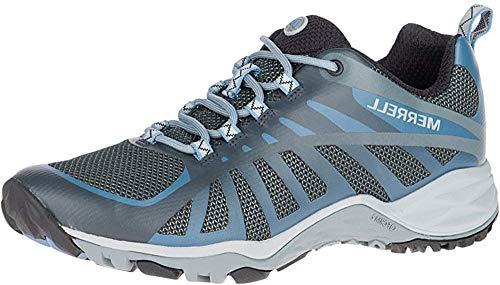 Merrell Women's Siren Edge Q2 Hiking Shoe, Castle Rock/Blue, 8