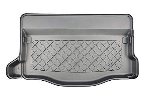 MTM Bandeja Maletero Jazz IV Hybrid/Jazz Crosstar Hybrid 06.2020- a Medida, Alfombra Cubeta Protectora Antideslizante. Uso: con o sin subwoofer, Aleta Izquierda y Derecha Extraible, cód. 9049