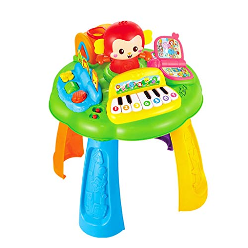 Juguete Educativo Mono De Aprendizaje Mesa De Música De Juguete (Color : Monkey study table, Tamaño : Metro)