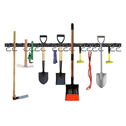 Garage Tool Organizer Wall Mount 64 InchAdjustable Storage SystemWall Holders for ToolsWall Mount Tool OrganizerGarage OrganizerGarden Tool OrganizerGarage Storage