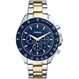 Fossil Men's Neale Quartz Stainless Chronograph Watch, Color: Two tone silver/gold (Model: BQ2266)